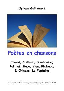 Couverture poètes en chansons